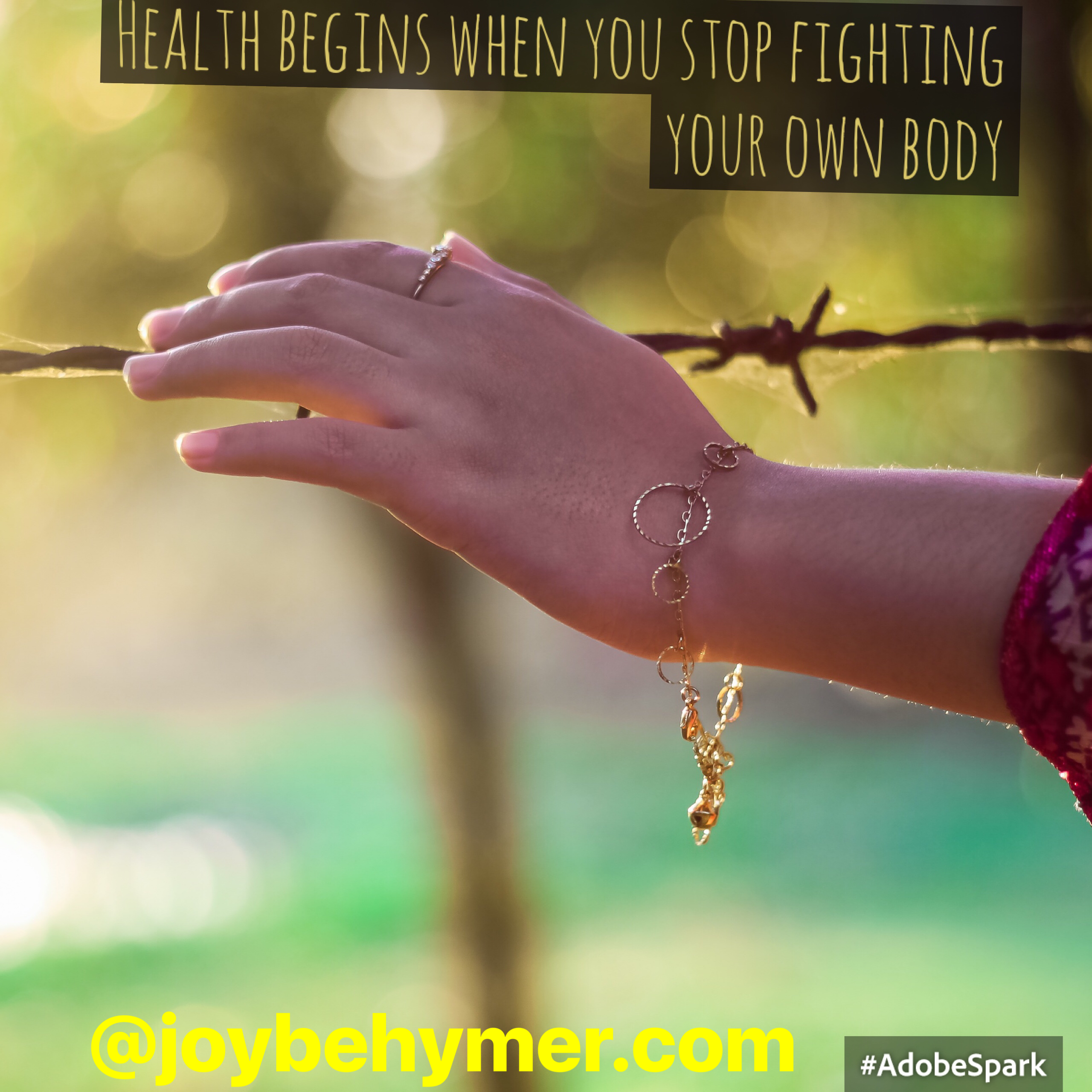 Health begins when you stop fighting your own body
